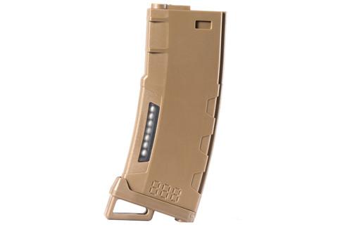 LANCER TACTICAL M4/M16 HI SPEED 130 ROUND MID CAP AIRSOFT MAGAZINE - TAN