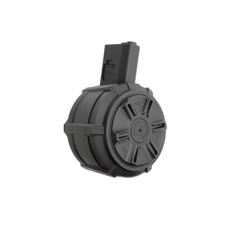 G&G PCC 45 MANUAL DRUM 1500 ROUND AIRSOFT MAGAZINE - BLACK