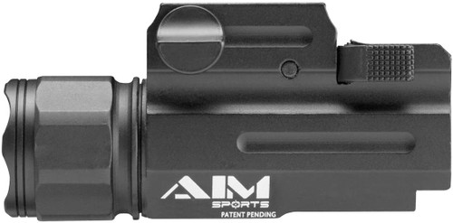 AIM SPORTS 330 LUMENS TACTICAL FLASHLIGHT WITH QUICK RELEASE MOUNT - BLACK
