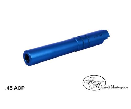 AIRSOFT MASTERPIECE ALUMINUM .45 ACP THREADED BARREL FOR HI-CAPA 4.3 - BLUE