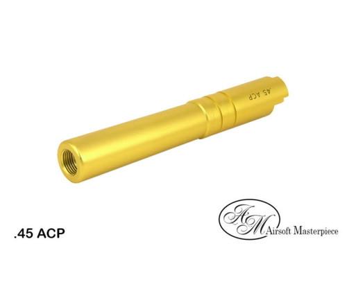 AIRSOFT MASTERPIECE ALUMINUM .45 ACP THREADED BARREL FOR HI-CAPA 4.3 - GOLD