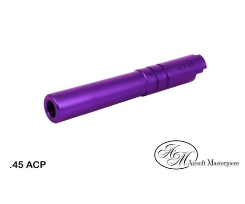 AIRSOFT MASTERPIECE ALUMINUM .45 ACP THREADED BARREL FOR HI-CAPA 4.3 - PURPLE