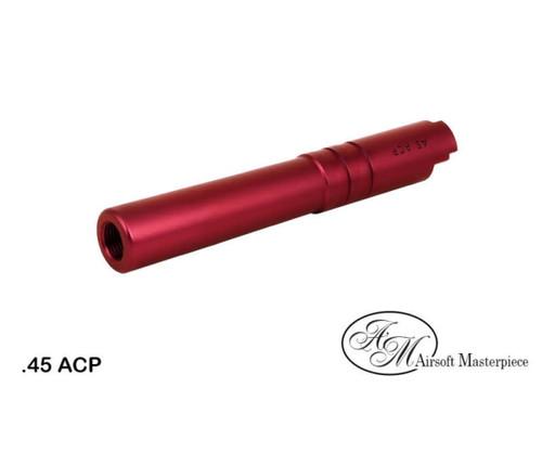 AIRSOFT MASTERPIECE ALUMINUM .45 ACP THREADED BARREL FOR HI-CAPA 4.3 - RED