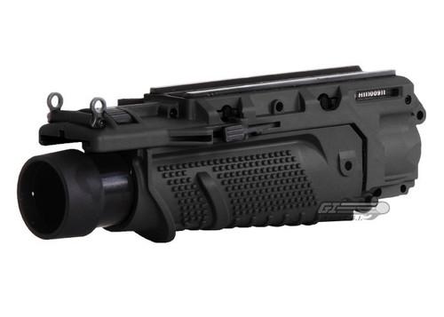 LANCER TACTICAL EGLM MK16 STYLE AIRSOFT GRENADE LAUNCHER - BLACK
