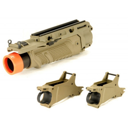 LANCER TACTICAL EGLM MK16 STYLE AIRSOFT GRENADE LAUNCHER - TAN