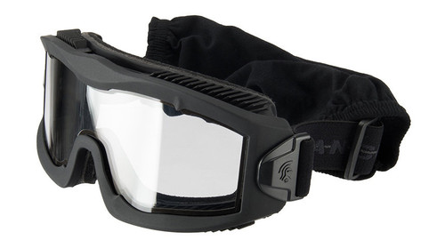 LANCER TACTICAL AERO PROTECTIVE AIRSOFT GOGGLES WITH CLEAR LENS - BLACK
