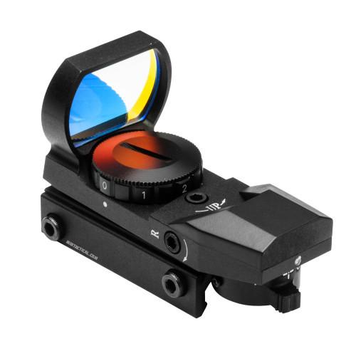 RED 4 RETICLE REFLEX OPTIC SIGHT BLACK