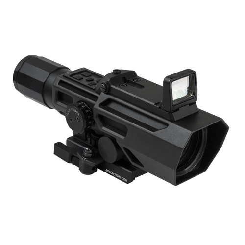 ADO 3-9X42 SCOPE W/ FLIP RED DOT BLACK