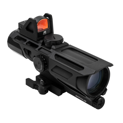 3-9X40 US SCOPE GEN 3 W/ RED DOT P4 BLK
