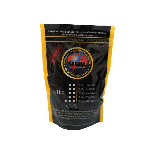 BIOVAL 0.30 GRAM BIODEGRADABLE AIRSOFT BBS - 3300 COUNT for $9.99 at MiR Tactical