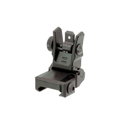 FLIP UP REAR SIGHT LOW PROFILE BLACK for $24.99 at MiR Tactical