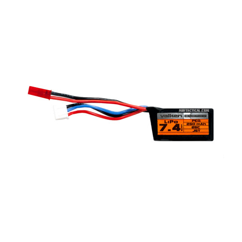 7.4V LIPO 250MAH 25C BATTERY for $14.99 at MiR Tactical