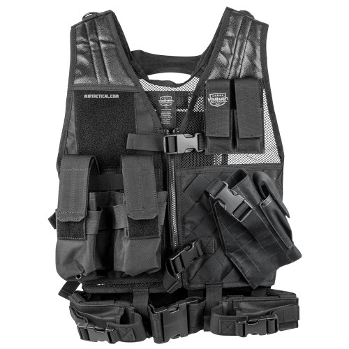 CROSSDRAW TACTICAL VEST YOUTH SIZE BLACK for $39.99 at MiR Tactical