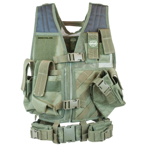 CROSSDRAW TACTICAL VEST YOUTH SIZE OLIVE for $39.99 at MiR Tactical