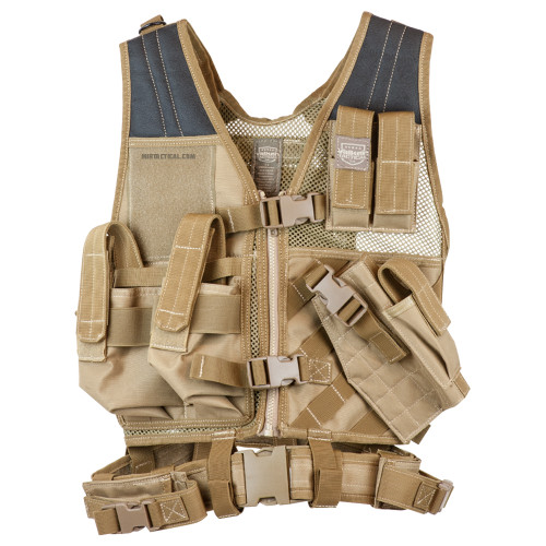 CROSSDRAW TACTICAL VEST YOUTH SIZE TAN for $39.99 at MiR Tactical