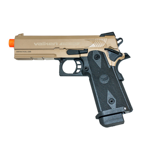 VALKEN 5.1' HI-CAPA GREEN GAS BLOWBACK AIRSOFT PISTOL - FDE
