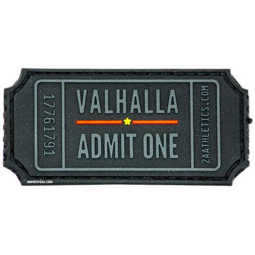 VALHALLA ADMIT ONE VELCRO PATCH for $9.99 at MiR Tactical