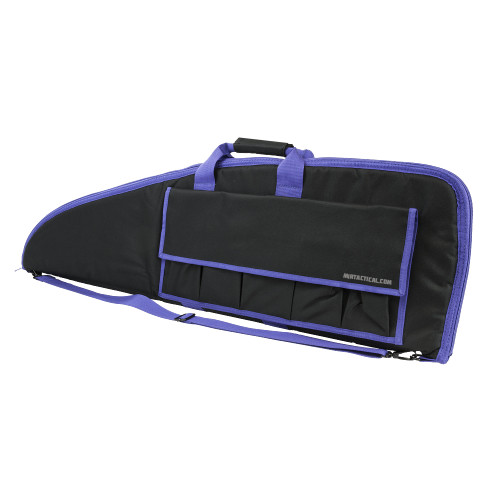 RIFLE CASE 36 INCHES BLACK W/ PURPLE TRIM