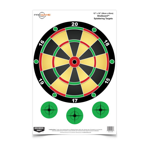 PREGAME SHOTBOARD TARGET 8 PACK 12 X18 for $12.99 at MiR Tactical