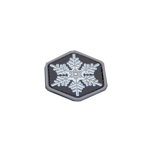 UNIQUE SNOWFLAKE PVC GREY PATCH