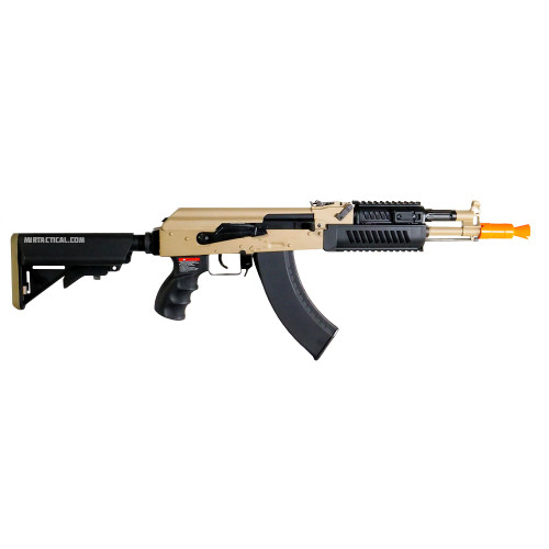 G&G RK104 ETU AK AIRSOFT CARBINE AEG - BLACK & FDE (PACKAGE: INCLUDES LIPO BATTERY AND CHARGER) for $349.99 at MiR Tactical