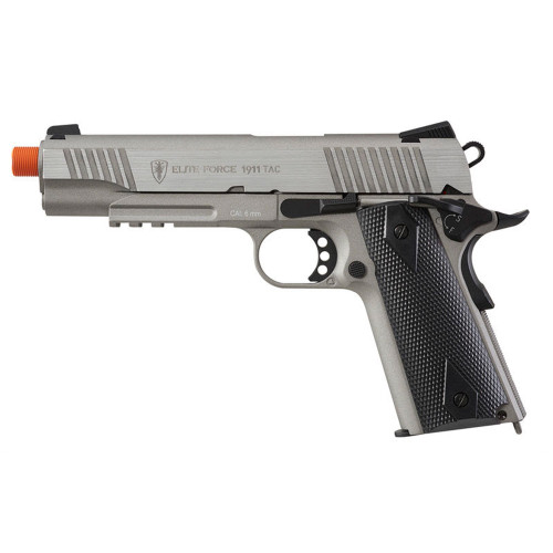 ELITE FORCE 1911 TACTICAL GEN 3 CO2 BLOWBACK AIRSOFT PISTOL - STAINLESS
