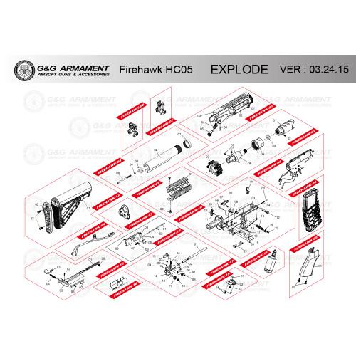 G&G AIRSOFT FIREHAWK HC 05 RIFLE DIAGRAM