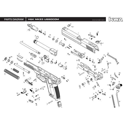 Kwa Airsoft Hk Mk23 Ussocom Pistol Diagram