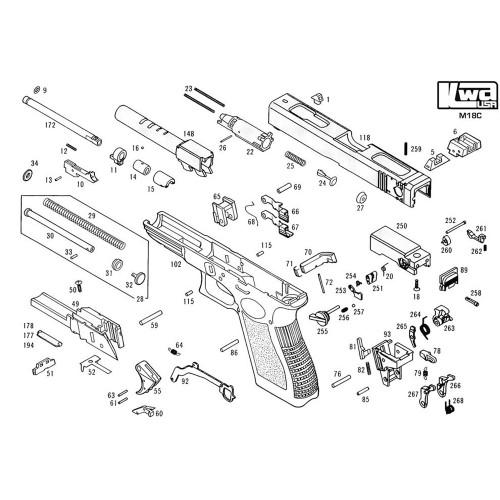 Kwa Airsoft M93r Ii Pistol Diagram