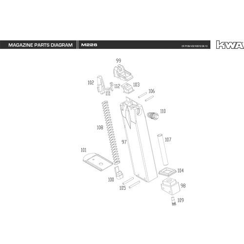 KWA AIRSOFT M226 MAGAZINE DIAGRAM
