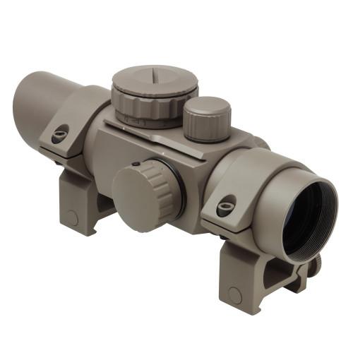 30MM TUBE REFLEX RED/GREEN OPTIC W/ 4 RETICLES TAN