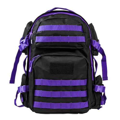 TACTICAL BACKPACK BLACK / PURPLE