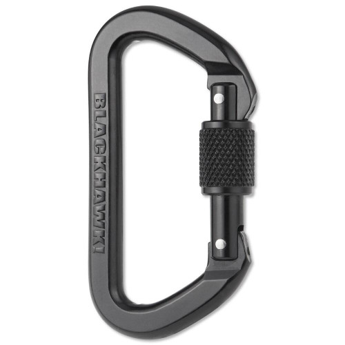 BH LOCKING D CARABINER ALUMINUM BLK for $19.99 at MiR Tactical