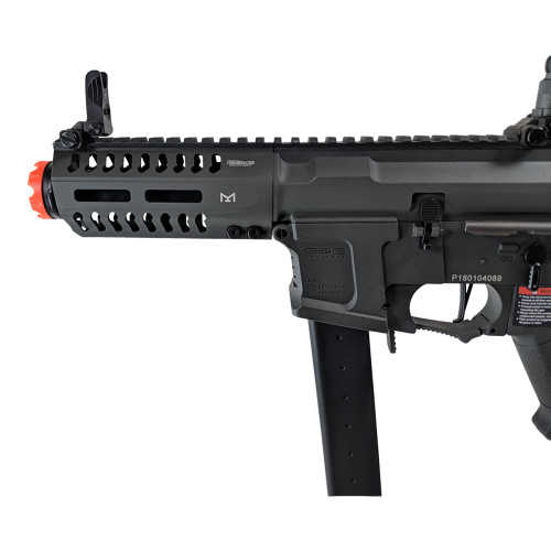 G&G CM16 ARP 9 AIRSOFT SMG AEG - BATTLESHIP GREY (PACKAGE: INCLUDES LIPO BATTERY AND CHARGER)