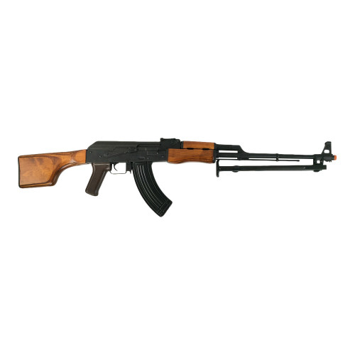 LCT RPK LMG WITH REAL WOOD FURNITURE AIRSOFT AEG - BLACK