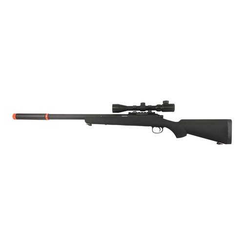 BAR-10 AIRSOFT ACTION SNIPER RIFLE W/SCOPE AND MOCK SILENCER