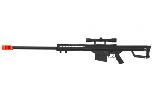 LANCER TACTICAL M82 BOLT ACTION AIRSOFT SNIPER RIFLE - BLACK for $109.99 at MiR Tactical