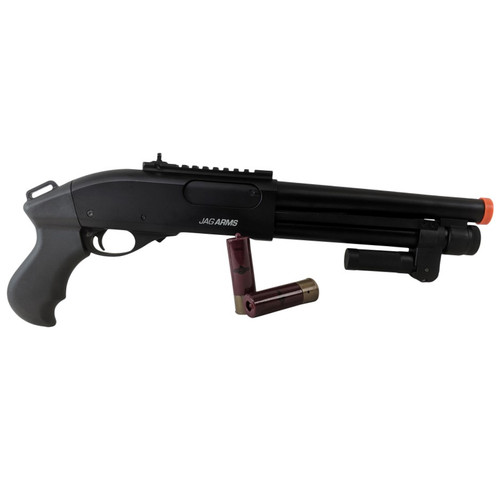 JAG ARMS GAS SCATTERGUN SUPER CQB AIRSOFT SHOTGUN - BLACK