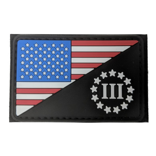 US FLAG MORALE PATCH THREE PERCENTER for $9.99 at MiR Tactical