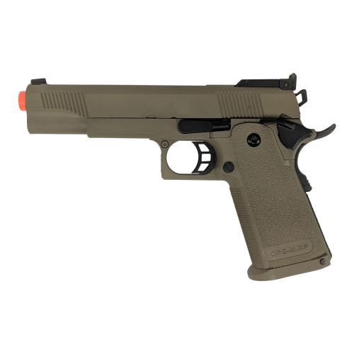 JAG GM4 5.1' HI-CAPA GREEN GAS BLOWBACK AIRSOFT PISTOL - FDE