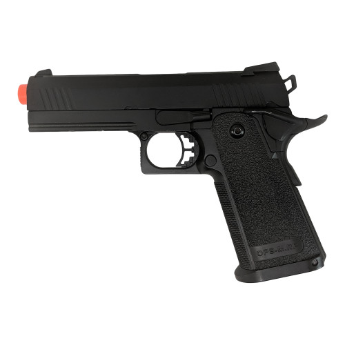 JAG GM4 4.3' HI-CAPA GREEN GAS BLOWBACK AIRSOFT PISTOL - BLACK for $99.99 at MiR Tactical