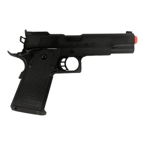 JAG GM4 5.1' HI-CAPA GREEN GAS BLOWBACK AIRSOFT PISTOL - BLACK for $99.99 at MiR Tactical