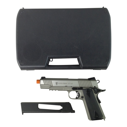 ELITE FORCE 1911 TAC SILVER AIRSOFT GUN CERTIFIED for $79.99 at MiR Tactical