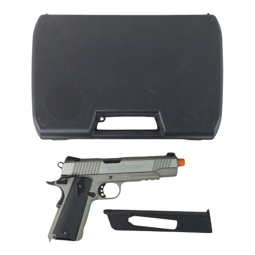ELITE FORCE 1911 TAC SILVER AIRSOFT GUN CERTIFIED
