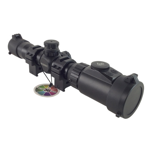 1-4X28 ACCUSHOT SCOUT IE SCOPE 36 COLOR W/ RINGS