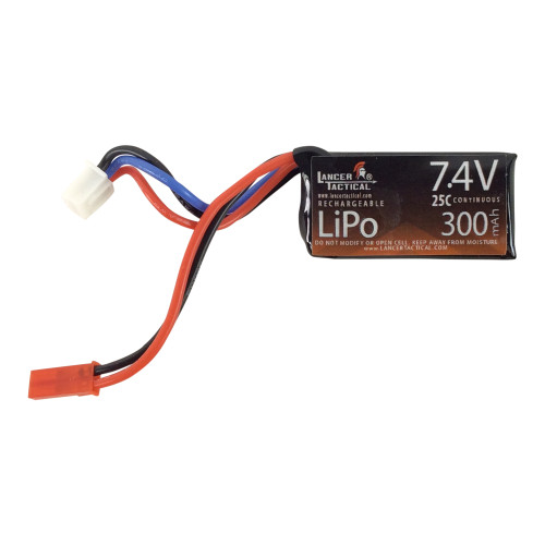 LANCER TACTICAL 7.4V 300 MAH 3S 25C FLAT LIPO BATTERY for $13.99 at MiR Tactical