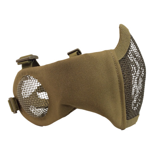 LOWER FACE MESH W/ EAR PROTETION MASK TAN
