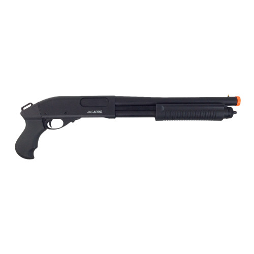 JAG ARMS GAS SCATTERGUN SUPER TACTICAL PISTOL GRIP AIRSOFT SHOTGUN - BLACK
