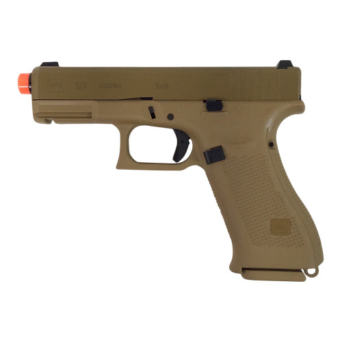 ELITE FORCE GLOCK 19X  GREEN GAS BLOWBACK PISTOL - TAN