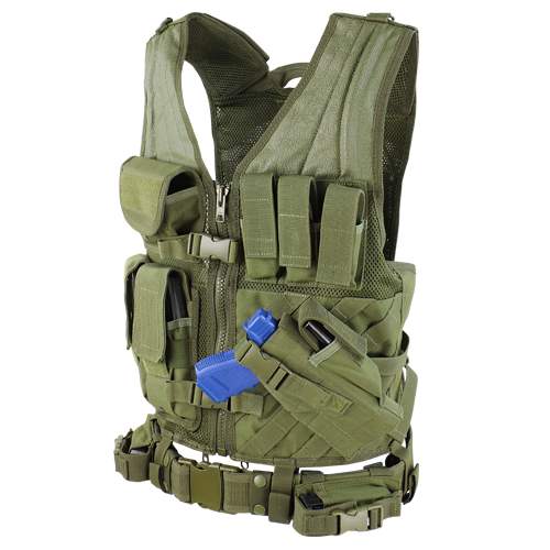 CROSS DRAW VEST OD for $59.99 at MiR Tactical